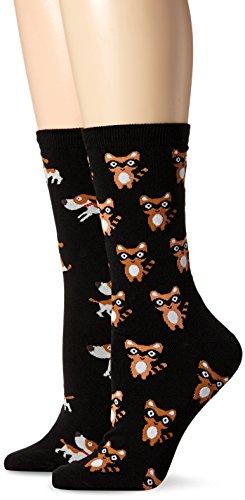 K. Bell Socks Womens 2 Pack Novelty Americana Crew Socks