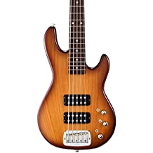 G&L Tribute L2500 5-String Electric Bass Guitar Tobacco Sunburst Rosewood Fretboard