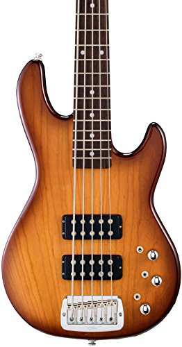 5 String Bass Tobacco Sunburst (G&L Tribute L2500 5-String Electric Bass Guitar Tobacco Sunburst Rosewood Fretboard)