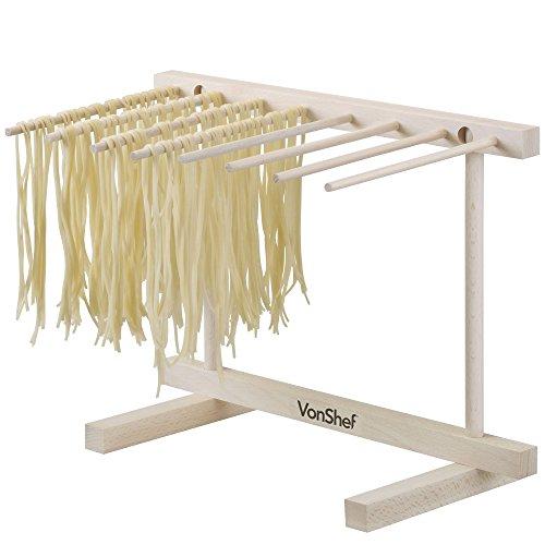 VonShef Zusammenklappbarer Pasta & Spaghetti Trockenständer Gestell