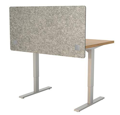 VaRoom Acoustic Partition, Sound Absorbing Desk Divider  48 W x 24H Privacy Desk Mounted Cubicle Panel, Ash Grey