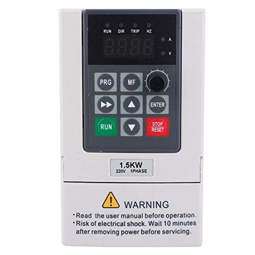 VFD Wechselrichter,VFD Frequenzumrichter 220V 1,5 kW einphasiger bis dreiphasiger 220V Wechselrichter mit variabler Frequenz,VFD Inverter