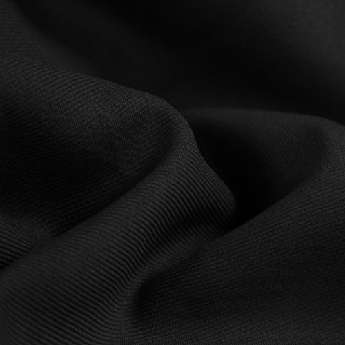Used, Black Solid 60'' Poly Gabardine Fabric by the Yard for sale  Delivered anywhere in USA