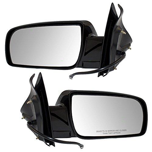 Driver and Passenger Power Side View Mirrors Below Eyeline Replacement for Chevrolet GMC Van 15001801 - Mirror Black Astro Power Van