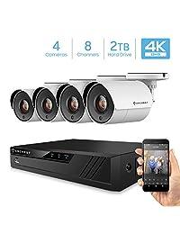 Amcrest 4K Analog DVR Video Security Camera Systems DVR Negro sistema de cámara de seguridad