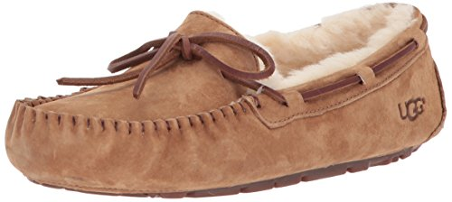 Ugg Belle Slippers - UGG Women's Dakota Moccasin, CHESTNUT, 9