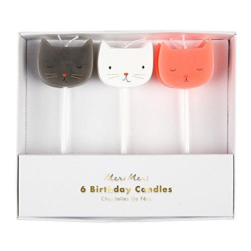 Meri Meri 3 Cat Candles