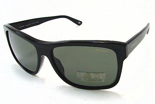 eeb1ed84c9 VERSACE 4179 Sunglasses Black GB1 58 Polarized Shades  Amazon.co.uk   Clothing