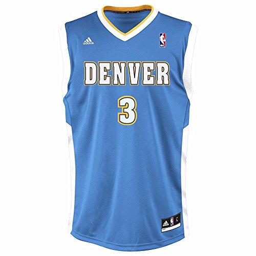 Allen Iverson Denver Nuggets NBA Adidas Men's Blue Replica Jersey – DiZiSports Store