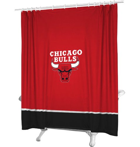 NBA Shower Curtain NBA Team: Chicago Bulls by NBA