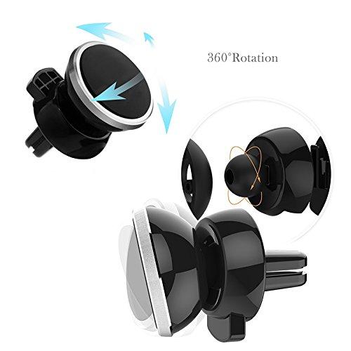 Universal Car Mount Phone Holder 360/° Rotation Car Air Vent Mount Magnetic Phone Holder for iPhone X//8//8Plus//7//7Plus Samsung Galaxy Note 8//S9//S8//S8 Plus //S7 and More Magnetic Cell Phone Mount