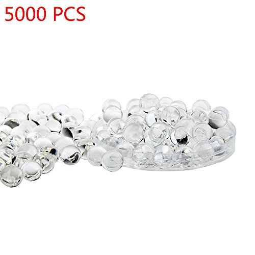 - Candora 5000pcs Water Beads Crystals Mud Crystal Water Gel Beads Soil Beads Crystal Soil Plant Flower Jelly Crystal Soil Mud Water Pearls Gel Beads Balls for Kids Vases (Transparent)