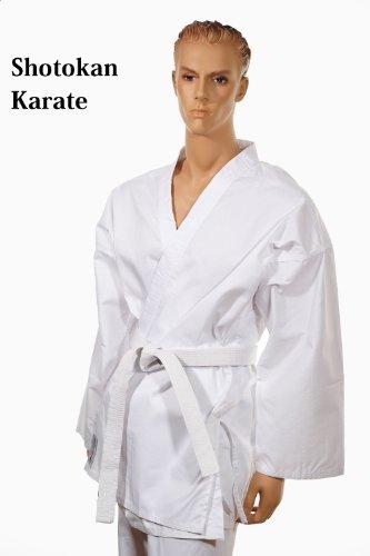 SHOTOKAN Karate traje blanco con cinturón blanco - tamaño 4 ...