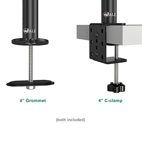 Wali Extra Tall Dual Lcd Monitor Fully Adjustable Desk