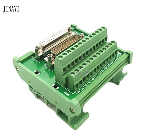 Davitu 25 pin DB25 D-SUB Female Male signals Terminal PCB Breakout Module box Adapter Connector - (Color: PCB with Module box)