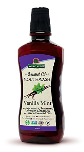 Nature's Answer Vanilla Mint Essential Oil Mouthwash 16 oz. Freshen Breath best selling organic mouthwash