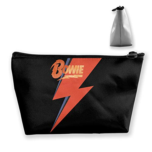 David Bowie Logo Mars Song Portable Travel Cosmetic Bags Makeup Organizer With Zipper ()