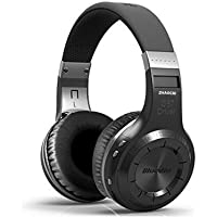Wireless Headset Bluetooth 4.1 Stereo Studio Headphone with Mic Noise Cancelling Earbuds Over Ear earphones for Game Computer Cell Phone(Black)