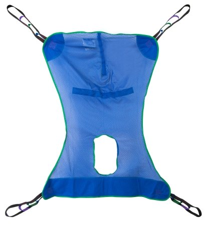 McKesson Mesh Full Body Patient Lift Sling with Commode Opening - Medium - 1 Each / Each - 32164401