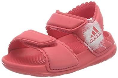 adidas, AltaSwim Slides, Girls, Pink/White/White, 1 US