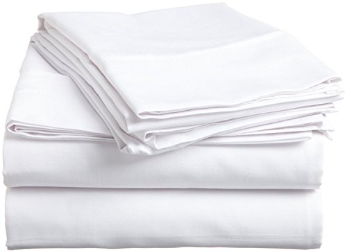 (Rajlinen Ultra Soft Cozy 100% Percale Cotton 4 PCs Bed Sheet Set - 400 Thread Count 15 inch Deep Pocket - Extremely Smooth Stronger Durable Quality Bedding (White Solid,King))