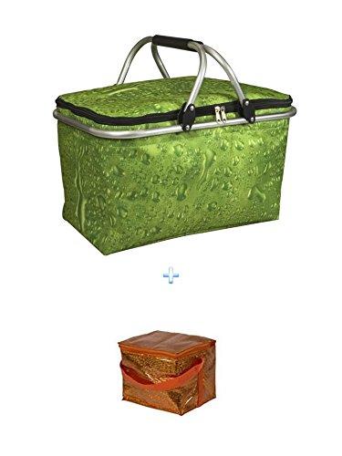 Isolierte Kü hltasche G+ Kü hltasche - ideal fü r Einkauf & Picknick Kü hltasche 210x170 mm wak