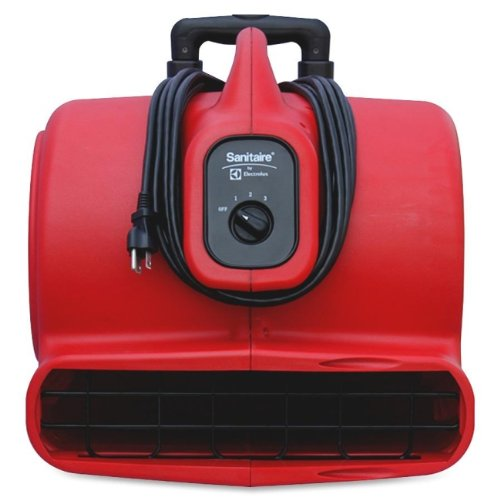 Sanitaire SC6054 Commercial Three-Speed Air Mover with Built-on Dolly, 5 amp, Red, 25 ft Cord