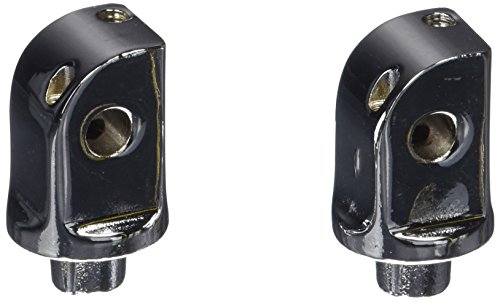 Rear Footpeg Adapters - Kuryakyn 8826 Splined Male Mount Peg Adapters for Front/Rear Footpegs and Floorboards: Kawasaki, Yamaha Motorcycles, Chrome, 1 Pair