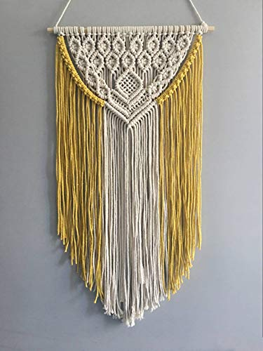 Youngeast Handmade Boho Macrame Wall Hanging Woven Craftmanship