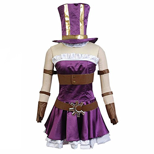 [Cuterole Women LOL The Sheriff of Piltover Policewoman Caitlyn Cosplay Costume Custom] (Caitlyn Cosplay Costume)