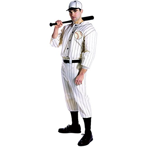 [Old Tyme Baseball Player Costume - One Size - Chest Size 42-48] (Baseball Player Costumes Women)