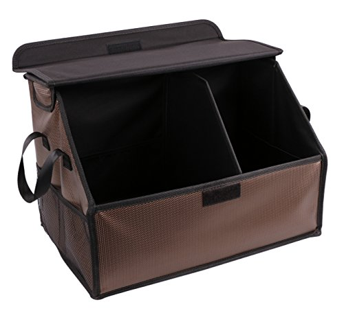 Collapsible Auto Car Suv Truck Trunk Organizer - Multifunction Dustproof Grocery Storage Cargo Case Container