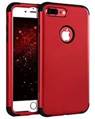 "Compatible Phone Model: ★ iPhone 8 Plus / iPhone 7 Plus 5.5""Sturdy & Protective ★ With qualified material and excellent workmanship, this 8 Plus/7 Plus case is sturdy and durable enough for longtime usage.  ★ Its back cover is a smooth su..."