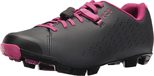 Shimano SH-XC5 Mountain Bike Shoe - Women's Grey/Magenta, 37