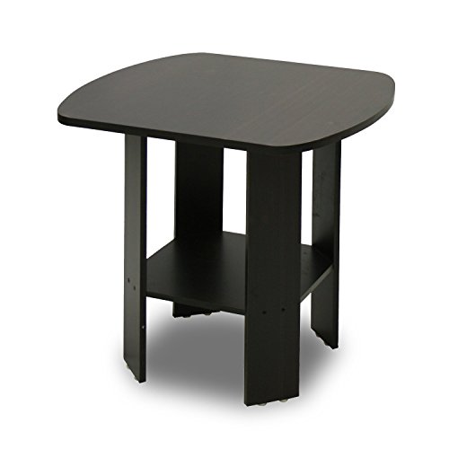 Furinno End Table - Easy Assembly, Espresso, 10026