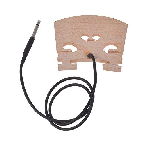 Electric Violin Bridge with Internally Piezo Pickup for 4/4 Violin Size Parts Replacement 1 (Baggs Violin Pickup)