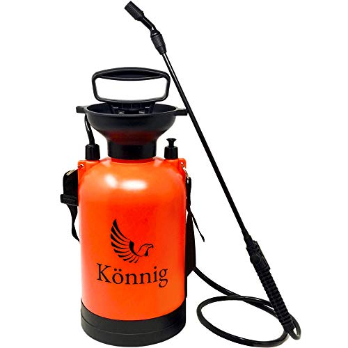 Könnig 1.3 Gallon Lawn, Yard and Garden Weed Pressure Sprayer for Chemicals, Fertilizer, Herbicides and Pesticides