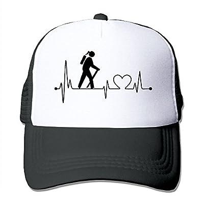 Girl Hiker Heartbeat Men's Women's Adjustable Snapback Hats Hip Hop Caps | Baseball Caps Mesh Back