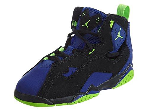 Nike Boy's Jordan True Flight(PS) Black/Electric Green-Concord 12C (Jordan Shoes For Boys Ps)