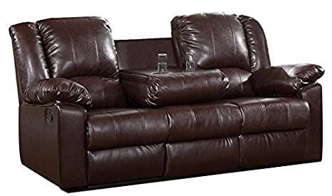 Amazon Com Loveseats Reclining Sofa With Drop Down Cup Holder 2