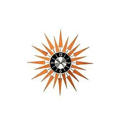 Telechron  Wooden Sunburst Clock, Caramel