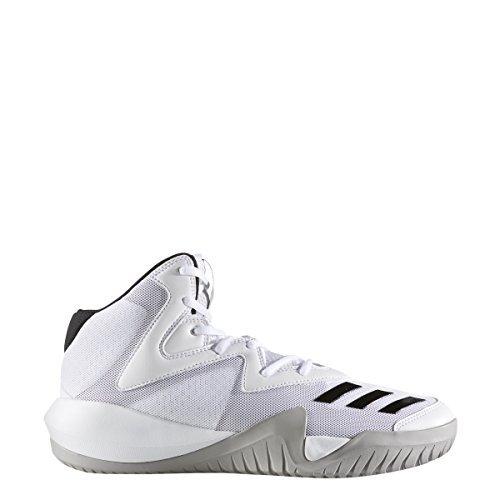 adidas Crazy Team 2017 Shoe Mens Basketball 8 White-Core Black-Solid Grey