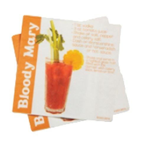 DCI Cocktail Napkins with Bloody Mary Drink Recipe, 20-Pack ()