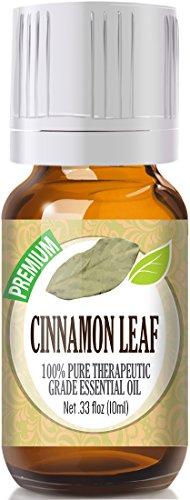(Cinnamon Leaf 100% Pure, Best Therapeutic Grade Essential Oil - 10ml / .33)