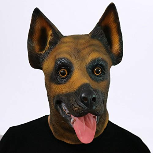 Culturemart Scary Wolf Dog Latex Mask Realistic Cute Halloween Animal Costume Cosplay Halloween Masquerade Dress Festival Party Decoration for $<!--$47.69-->