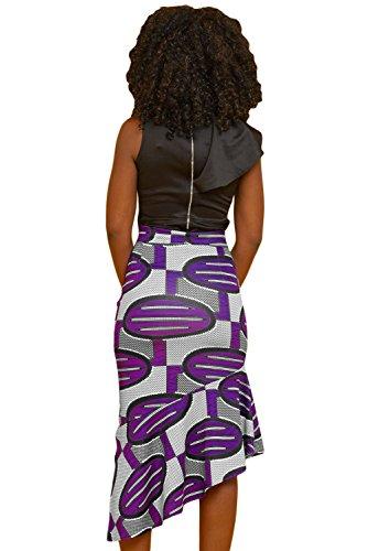 Taille Irrgulire Slim Jupe Violet Jupe Size Plus Imprim Chic BaronHong Haute Mini XOfqSAnwx