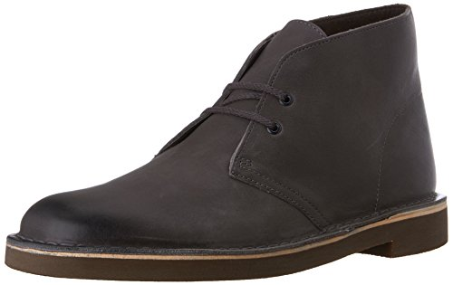 Clarks Men's Bushacre 2 Chukka Boot, Grey Leather, 10 M US ()