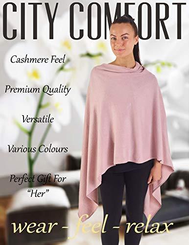 Elegant marocchina Maglieria For Poncho Pink Women Size Unique Beige Citycomfort axAqRgg