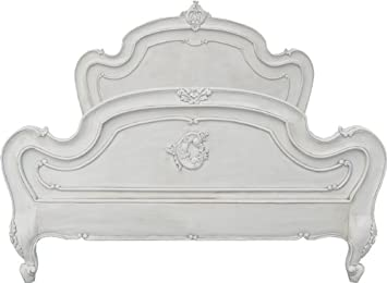 carved louis xv double bed frame french antique white mahogany reproduction bed