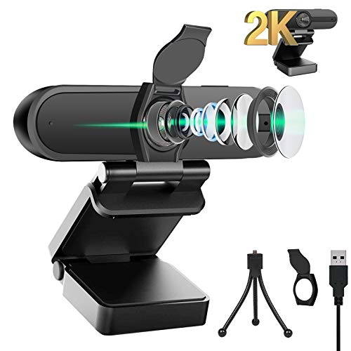2K Webcam with Microphone Privacy Cover Akyta 2K 4MP QHD USB Web Computer Camera85 Degree2K 1440P